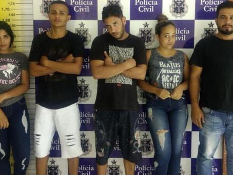 Quadrilha de roubo a banco é detida em Feira de Santana