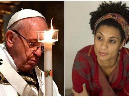 Papa Francisco telefona e conversa com mãe de Marielle