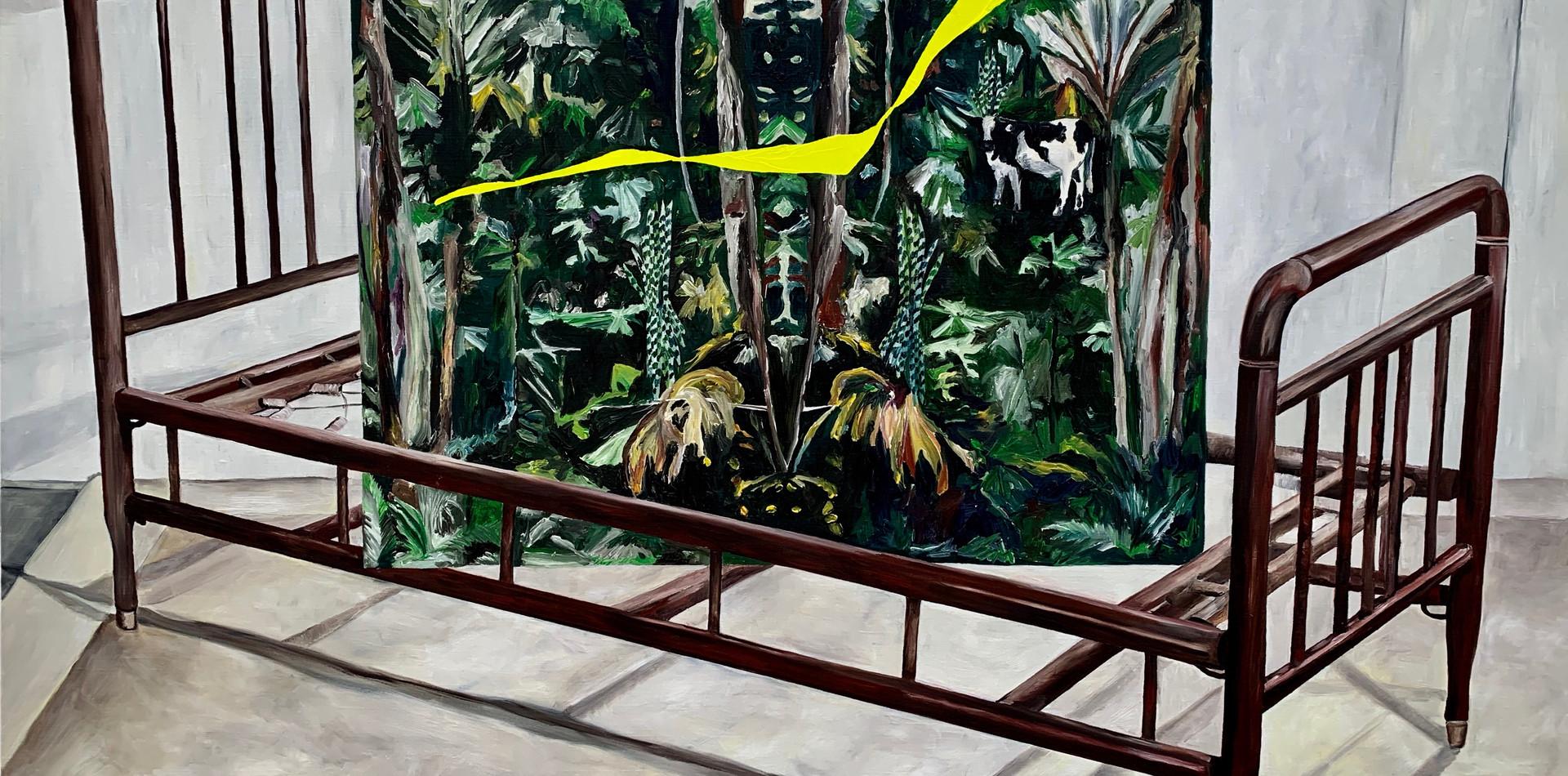 Paradise III   2019 Óleo sobre tela/ oil on canvas 70 x 100 cm