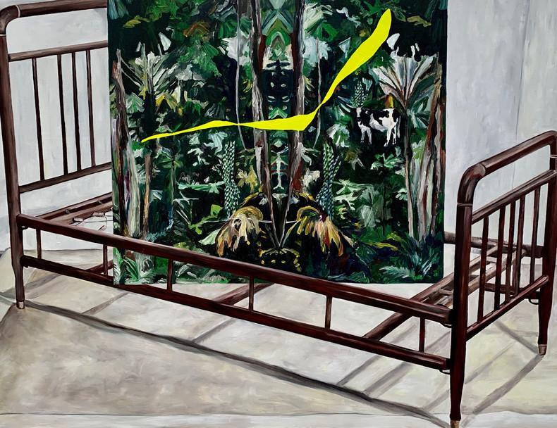 Paradise III | 2019 Óleo sobre tela/ oil on canvas 70 x 100 cm