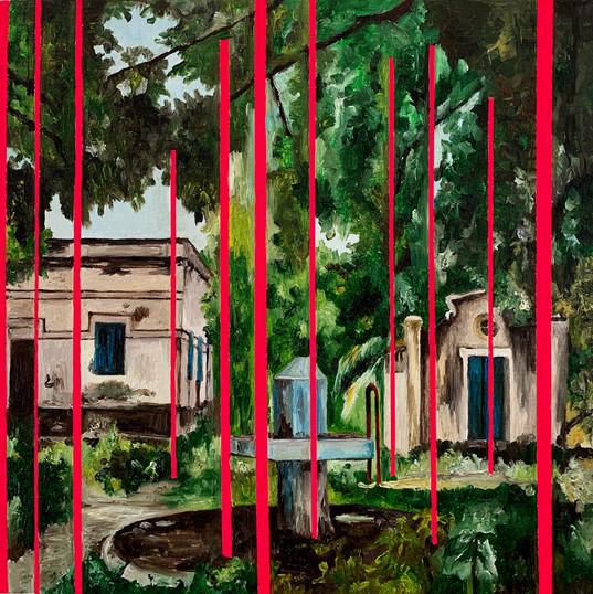 SANI GUERRA COLÔNIA | 2019 Óleo e tinta vinílica sobre tela 30 x 30 cm