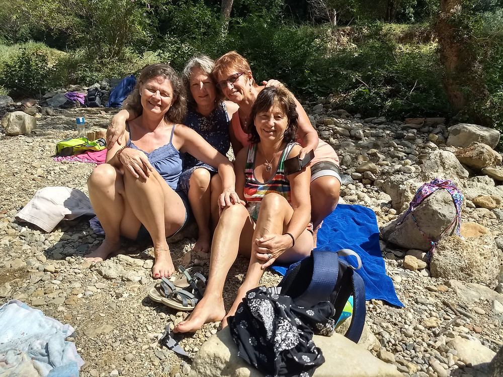 Just after the thermal bath in the river
