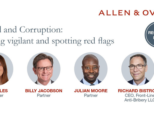 """Join Me at the """"Fraud and Corruption: Staying Vigilant and Spotting Red Flags"""" webinar!"""