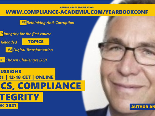 """Join Me at The Yearbook Conference 2021: """"Ethics, Compliance & Integrity Challenges"""""""