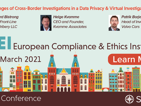 Join me at the SCCE's Virtual European Compliance and Ethics Institute!
