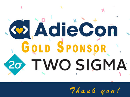 Welcoming AdieCon Gold Sponsor: Two Sigma