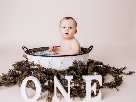 Ben's First Birthday Milestone || Indianapolis Area Family Photographer