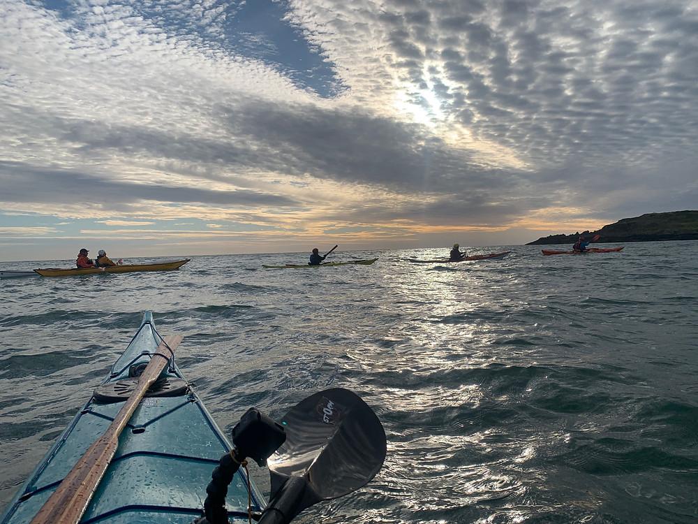 Ardglass paddles with Belfast Kayak Club