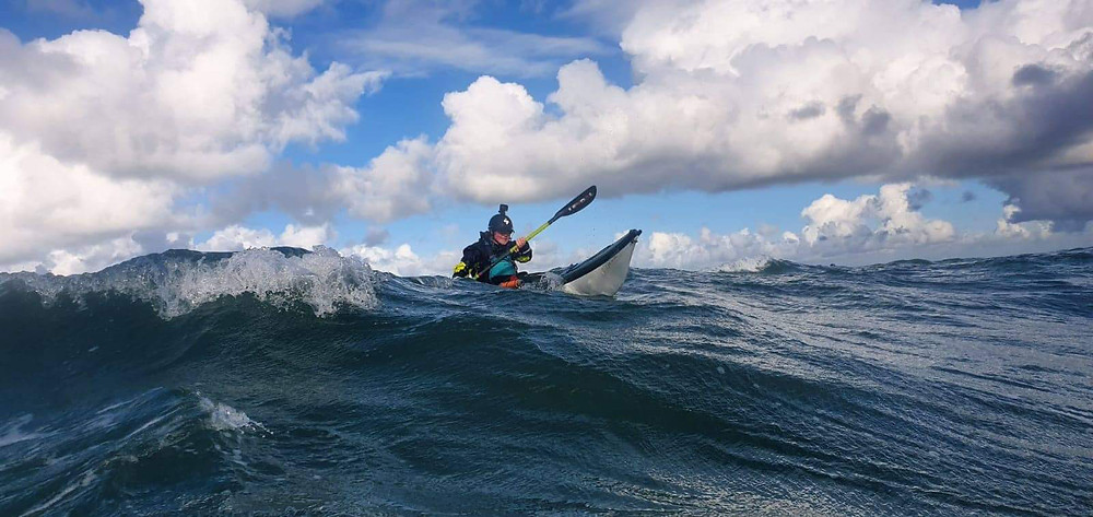 Surfing at the Stacks off Anglesey