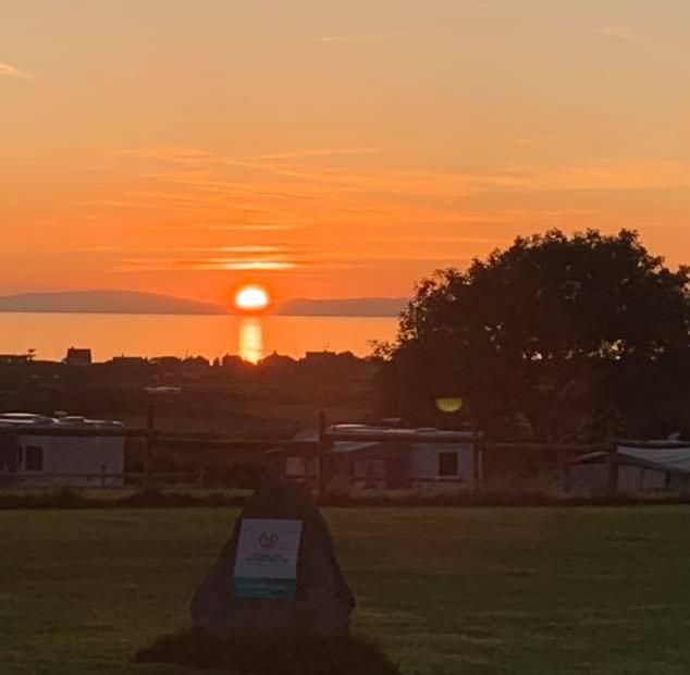 Sunset from Argoed Farm Holidays