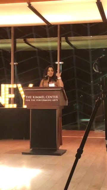 "Our guest of honor, Kavita Basi, brain aneurysm survivor, advocate and Author of ""Room 23."" #HoneyBash18"