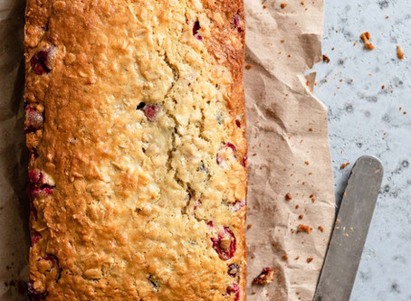 RECIPE - VEGAN COCONUT AND CRANBERRY BREAD