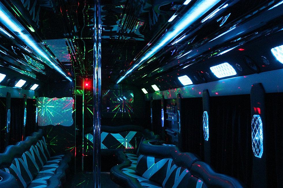 40 Passenger ultimate limo bus - interio