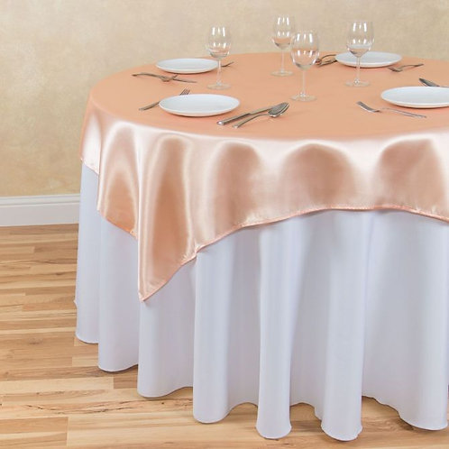 Peach Satin Square Overlay