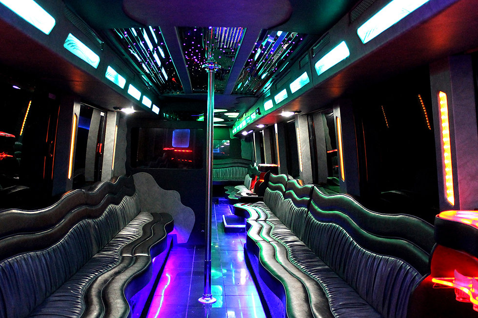 Elegantly Wild Limo Bus Interior - All A
