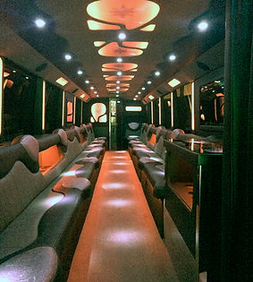 Oasis Limo Bus Interior - All About You