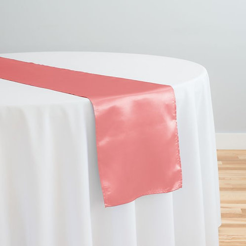 Strawberry Ice Satin Table Runner