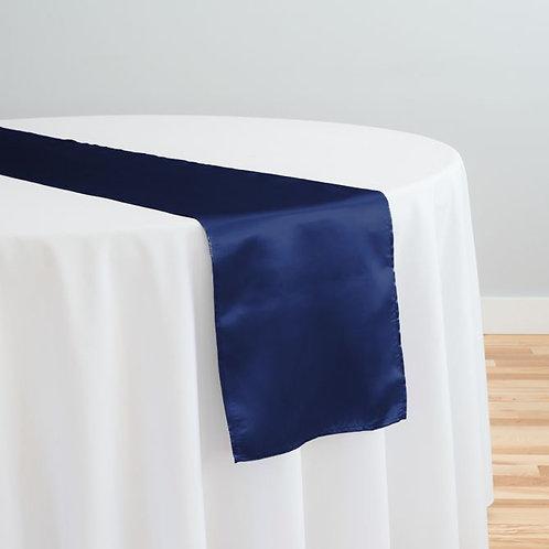 Navy Blue Satin Table Runner