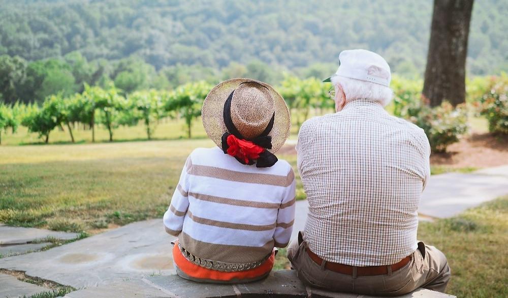 Senior couple enjoying the outdoors