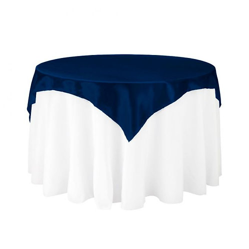 Navy Blue Satin Square Overlay