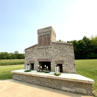 The Fireplace at a Wedding at Brookdale Farms Pavilion.jpg