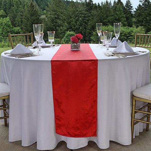Red Satin Table Runner