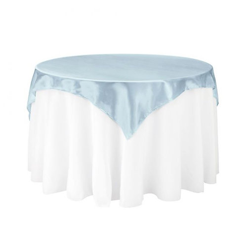 Baby Blue Satin Square Overlay