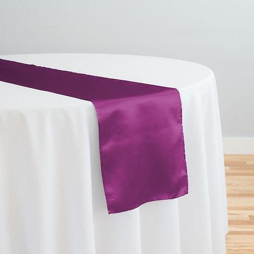 Purple Wine Satin Table Runner