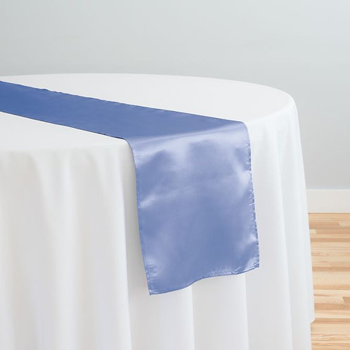 Serenity Blue Satin Table Runner