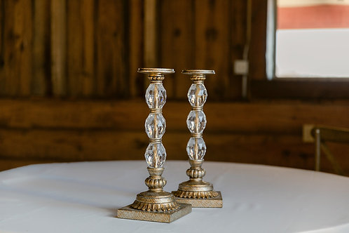 Rustic Chic Candle Holder Pair