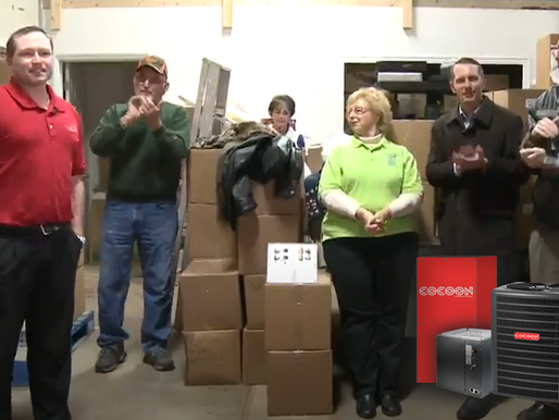 Cocoon Thermal Mass Furnace Donated to Arnold Food Pantry