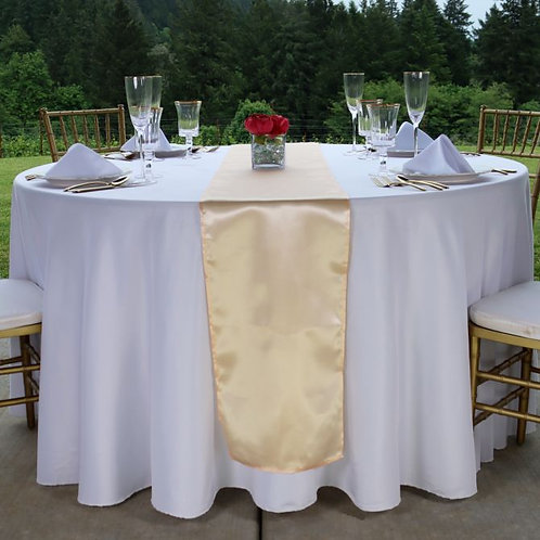 Peach Satin Table Runner