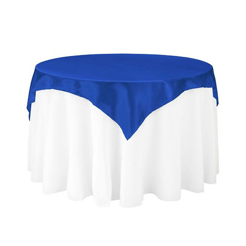 Royal Blue Satin Square Overlay