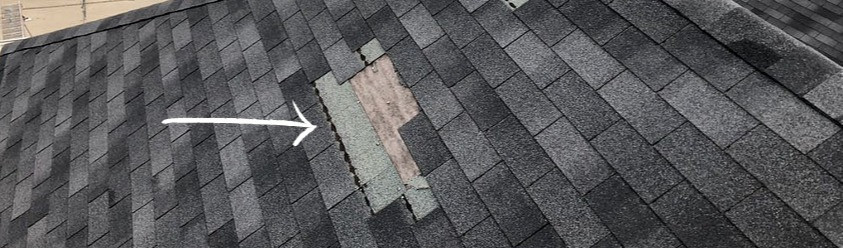 Missing Roof Shingles From Storm Damage - Eureka Contracting & Roofing - Eureka, MO