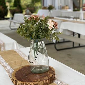 Floral Vase at a Wedding at Brookdale Pavilion.jpg