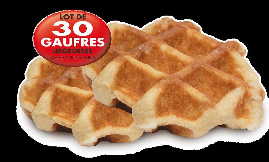 """Gaufre Liégeoise 90g """"Boite x 30 Sachets individuels"""""""