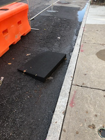 Ramp moved by rain