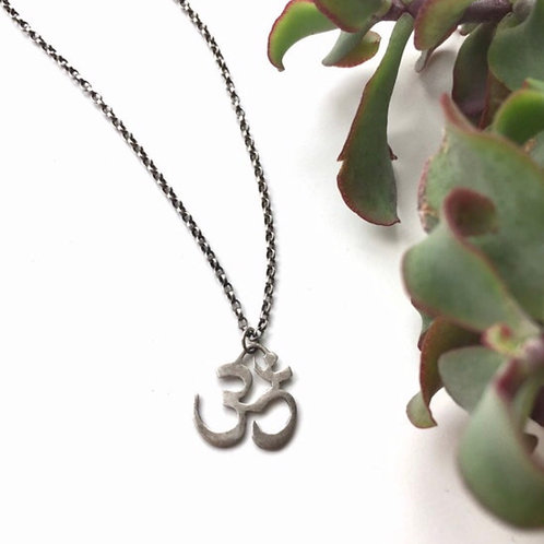 Oxidised Om Necklace