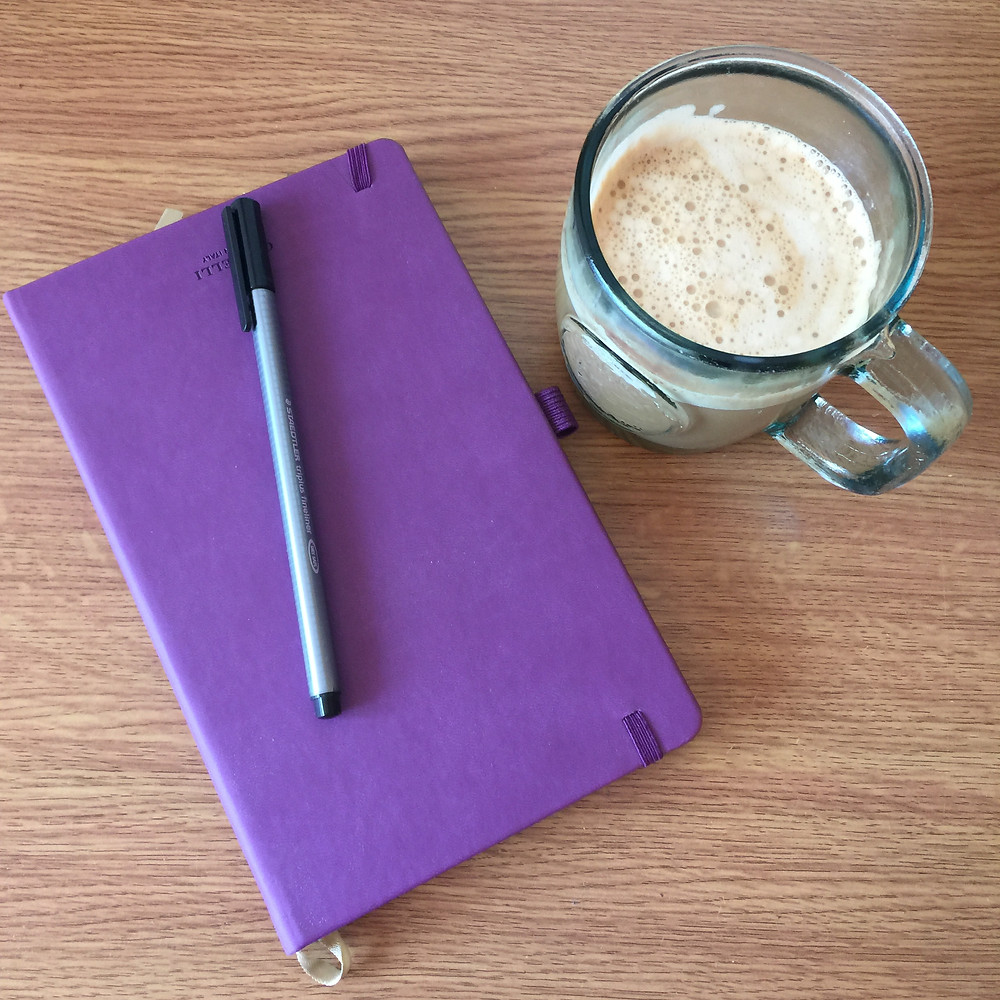 Morning page notebook and coffee!