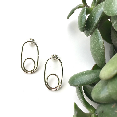 Double Oval Studs