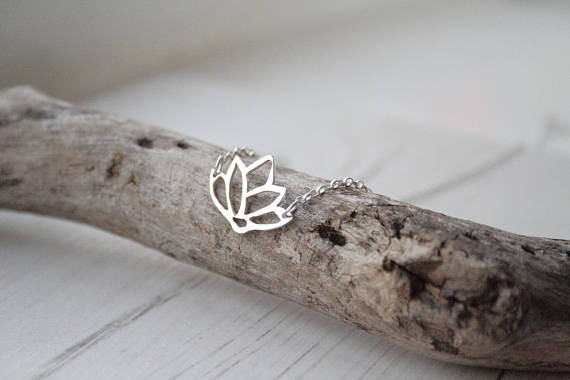 J. Aubrey Recycled Silver Lotus Necklace