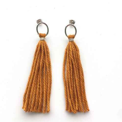 Burnt Orange Tassel Earrings