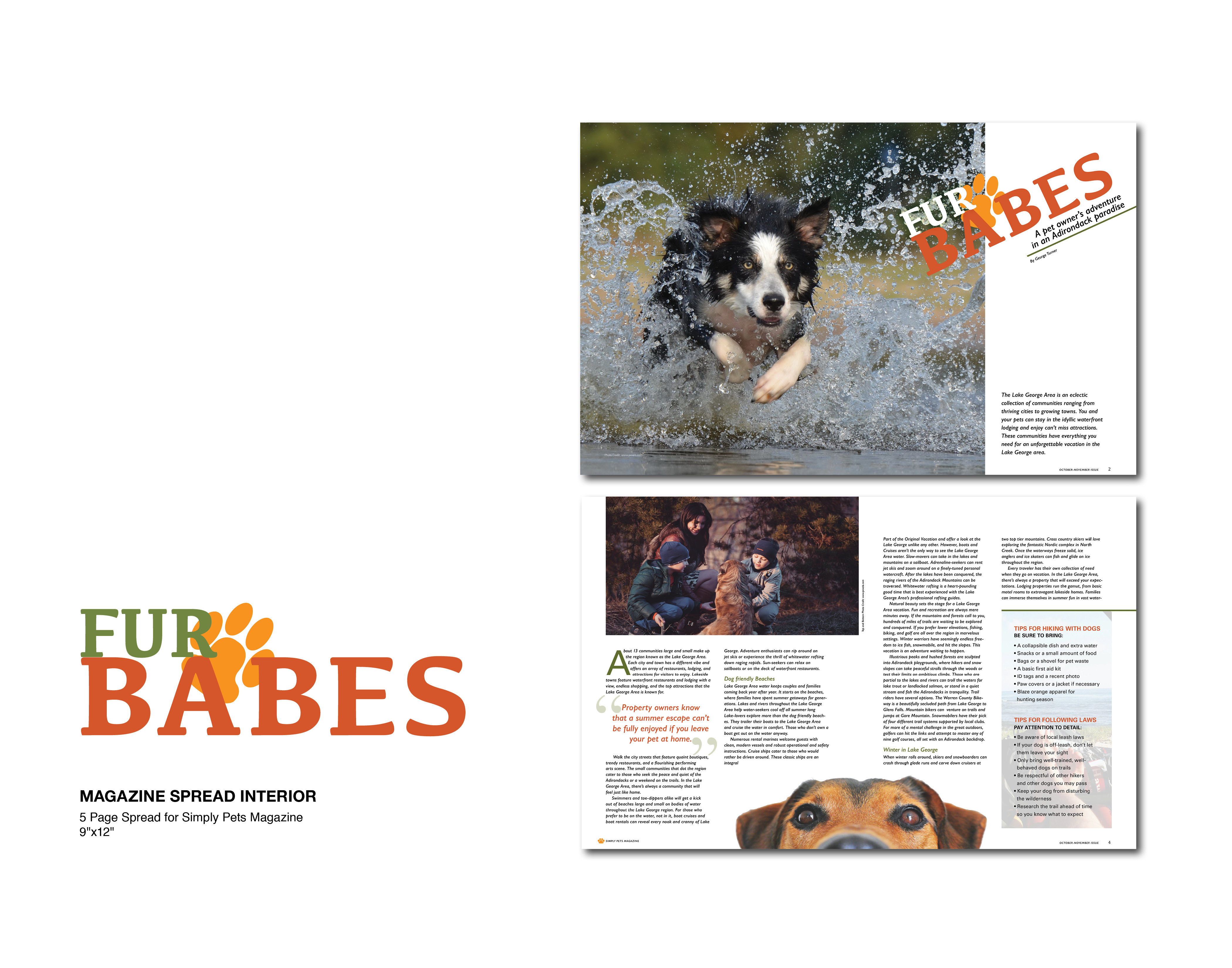 Simply Pets Magazine Spread