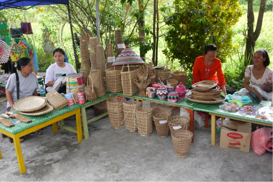 Native handicrafts on display and for sale at last year's bazaar