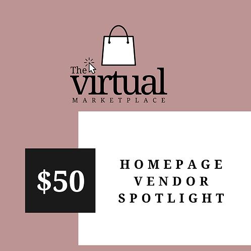 Homepage Vendor Spotlight