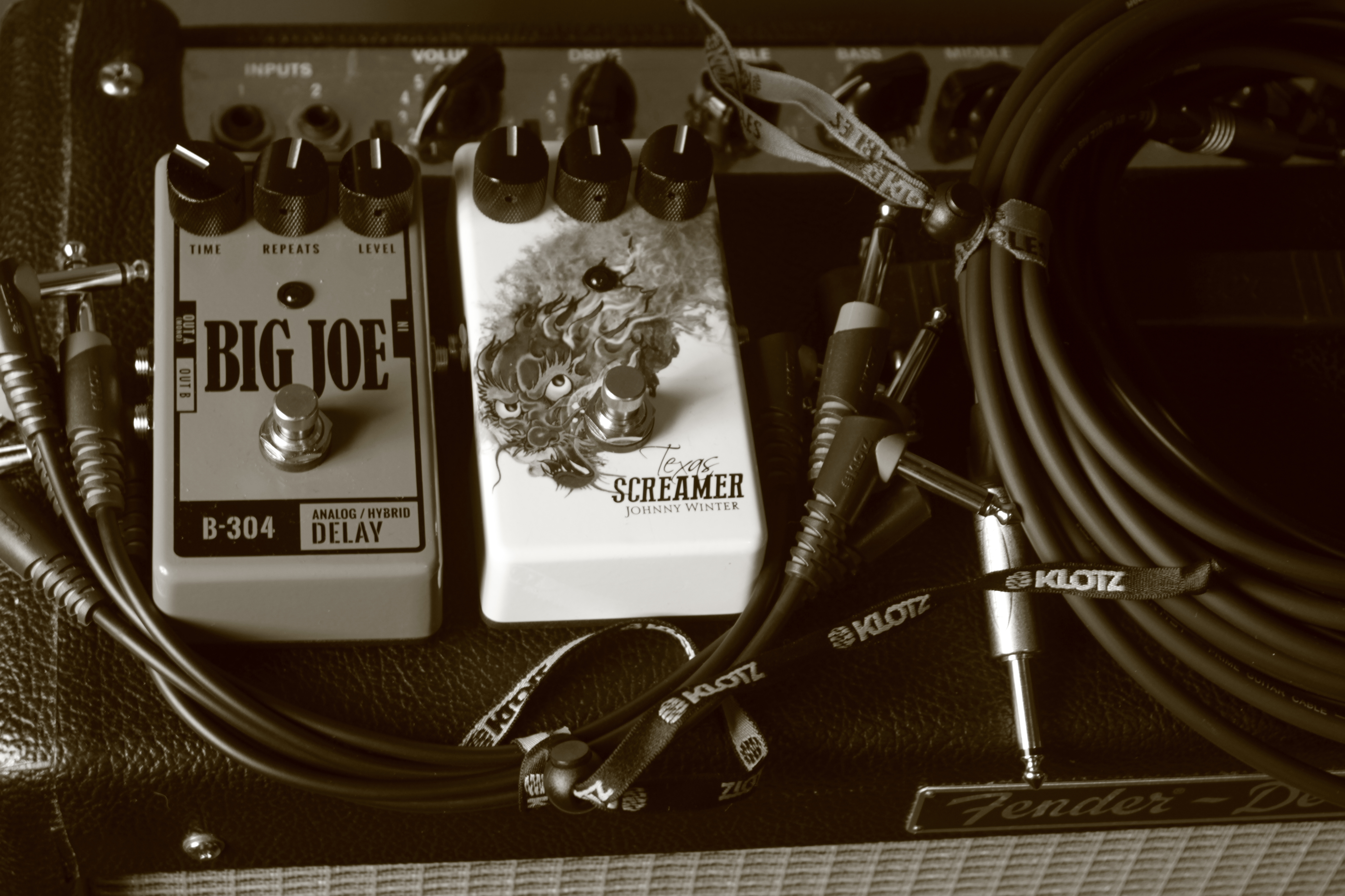 Big Joe Stomp Pedals/KLOTZ Cables