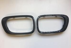 Pose film covering carbone mat sur piece automobile