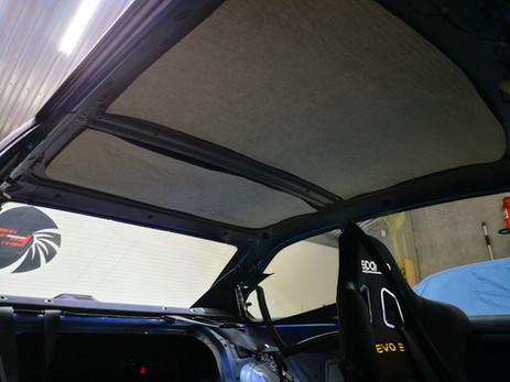 Sellerie remplacement ciel de toit alcantara