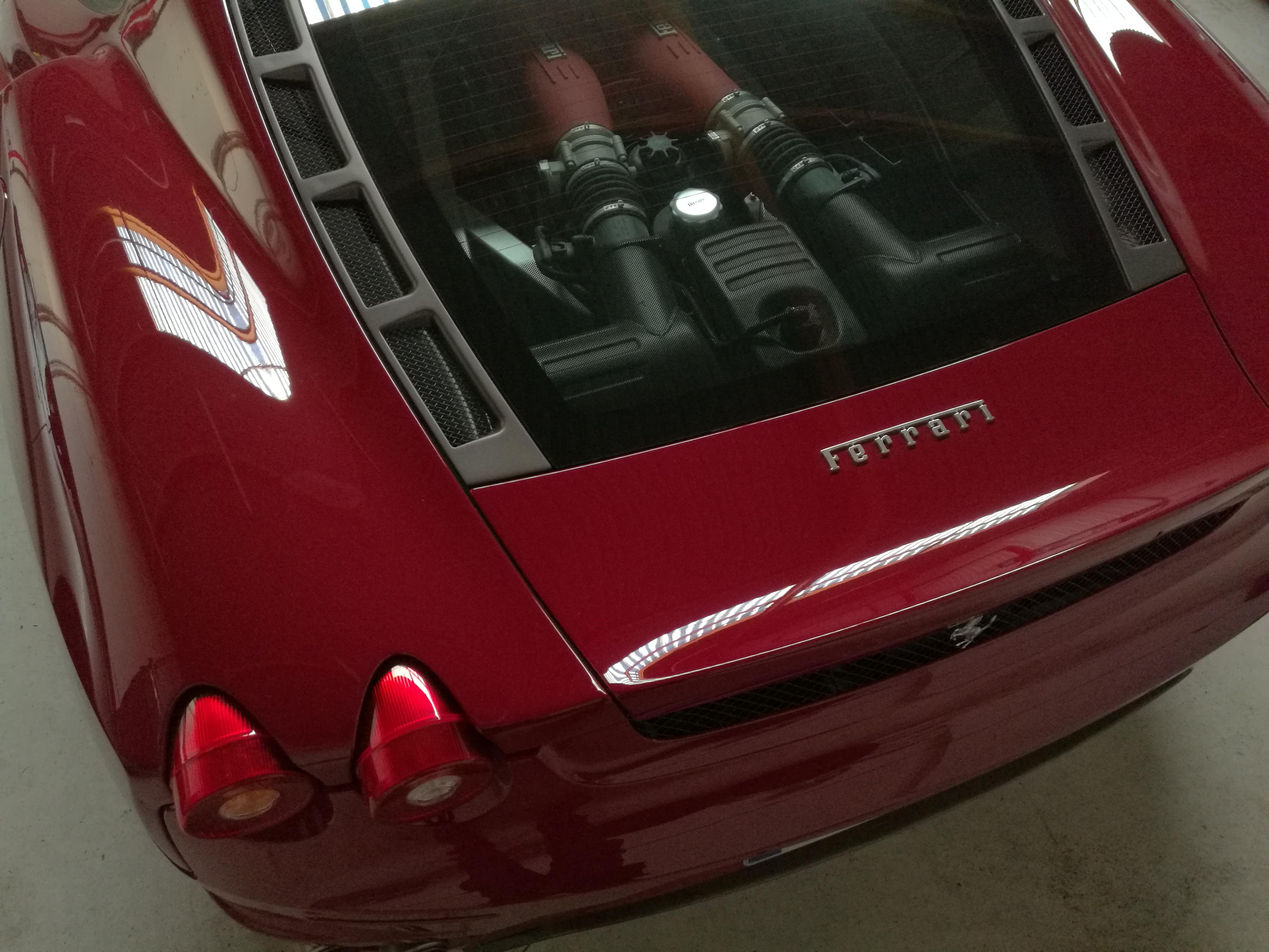 Professionnel detailing - traitement ceramique Kamikaze haut de gamme supercar Ferrari F430 Sarthe 7