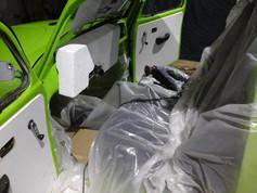 Aménagement pièce composite en carbone voiture